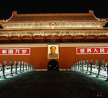 The Forbidden City by night by junkgirl