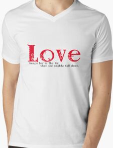 Love keeps her in the Air when she oughta fall down. Mens V-Neck T-Shirt