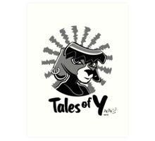 Tales of Y, Coco Looking Sideways Art Print