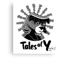 Tales of Y, Coco Looking Sideways Canvas Print