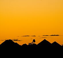 Sunset at Coober Pedy by Dilshara Hill