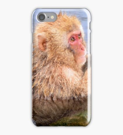 Young snow monkey iPhone Case/Skin