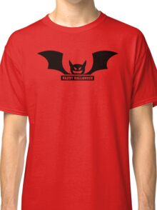 Happy Halloween Bat Silhouette Vector Classic T-Shirt