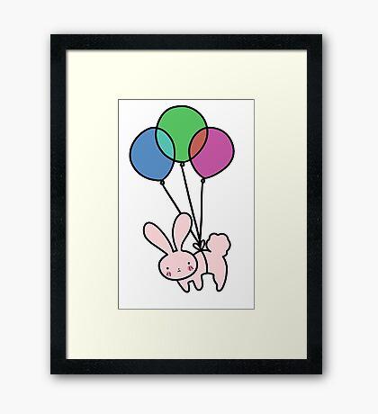Balloon Bunny Framed Print