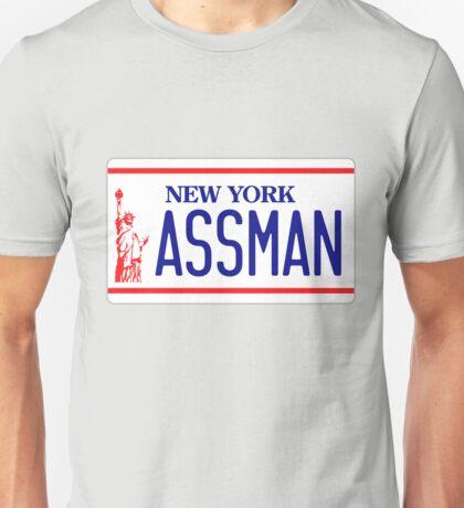 Kramer's ASSMAN licence Plate Unisex T-Shirt