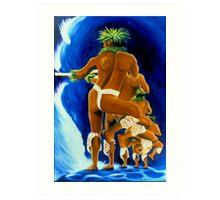 Kuʻi Ikaika Art Print
