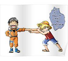 Luffy & Naruto Poster