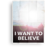 I want to believe light Canvas Print