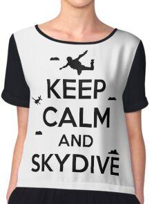 Keep calm and skydive Chiffon Top
