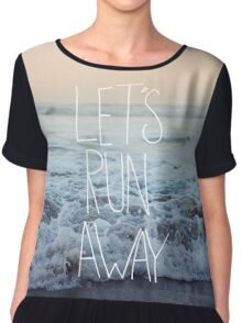Let's Run Away x Arcadia Beach Chiffon Top