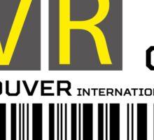 Destination Vancouver Airport Sticker