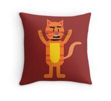 Crazy Cat Max Throw Pillow