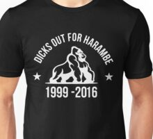 DICKS OUT FOR HARAMBE (white) Unisex T-Shirt