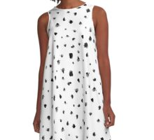 Dots It | Chic Watercolor Polka Dot Design A-Line Dress
