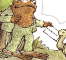 Frog & Toad Sticker