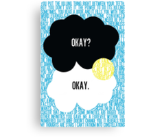 The Fault in Our Stars Typography Canvas Print