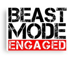 Beast Mode Engaged - Gym Phrase Canvas Print