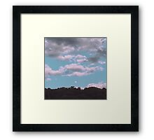 Moon Among the Clouds Framed Print