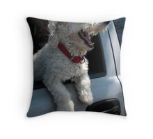"""""""Laughing Into The Wind"""" Throw Pillow"""