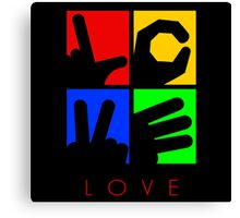 Love Hand Sign Canvas Print