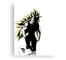 Strong man stand above and Conquers ALL - Vegeta SSJ3 Canvas Print