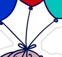 Balloon Squirrel Sticker