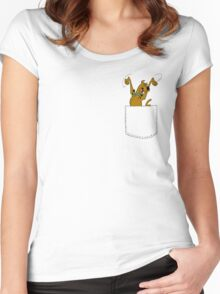 SCOOBY DOO POCKET Women's Fitted Scoop T-Shirt
