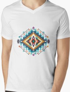 Ethnic print vector pattern background Mens V-Neck T-Shirt