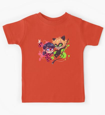 Chibi Time! Ladybug & Cat Noir Kids Tee