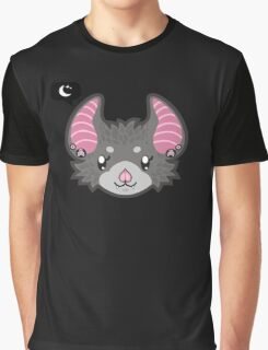 Goth Bat - head only Graphic T-Shirt