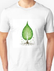 Green leaf shaped tree nature fractals concept art photo print Unisex T-Shirt