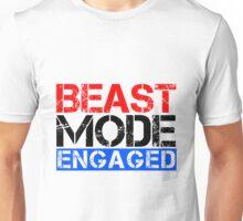 Beast Mode Engaged - Gym Phrase (Multicoloured) Unisex T-Shirt