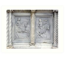 The panel depicting May on the Fontana Maggiore, Centro Storico, Perugia, Italy Art Print