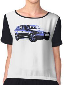 Awesome AUDI RS3 S3 VAG VW JDM - Street Car sports hatchback art Graffiti Popart  warhol Chiffon Top