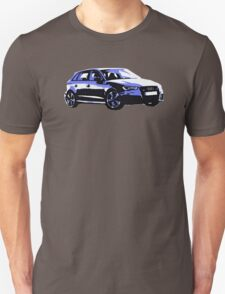 Awesome AUDI RS3 S3 VAG VW JDM - Street Car sports hatchback art Graffiti Popart  warhol Unisex T-Shirt