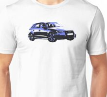 Awesome AUDI RS3 S3 VAG VW JDM - Street Car sports hatchback art Graffiti Popart  warhol Unisex T-Shirt