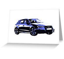Awesome AUDI RS3 S3 VAG VW JDM - Street Car sports hatchback art Graffiti Popart  warhol Greeting Card
