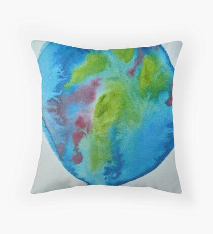 watercolor world Throw Pillow