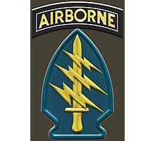 US Army Special Forces Airborne Insignia Photographic Print