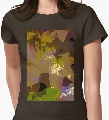 Leaves 9 Womens Fitted T-Shirt