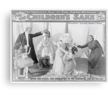 Performing Arts Posters For her childrens sake by Theo Kremer the companion play to The fatal wedding 2822 Canvas Print