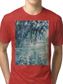 Claude Monet - Morning on the Seine (1898)  Tri-blend T-Shirt
