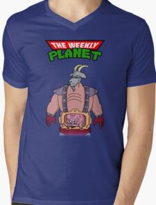 Teenage Mutant Ninja Goat Thing  Mens V-Neck T-Shirt