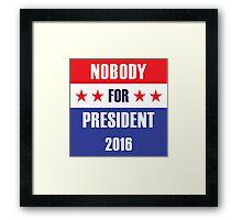 Presidential Campaign Framed Print