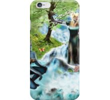 Spirits of the Water {Digital Fantasy Figure Illustration} iPhone Case/Skin