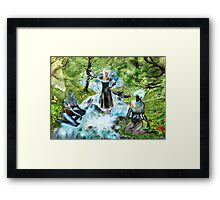 Spirits of the Water {Digital Fantasy Figure Illustration} Framed Print