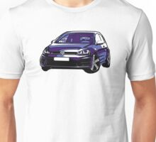 Awesome VOLKSWAGEN R GTI GT GTD VAG VW JDM - Street Car sports hatchback art Graffiti Popart  warhol Unisex T-Shirt