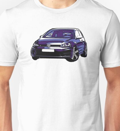 Awesome VOLKSWAGEN R GTI GT GTD VAG VW JDM - Street Car sports hatchback art Graffiti Popart  warhol Unisex T-Shirt
