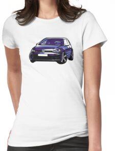 Awesome VOLKSWAGEN R GTI GT GTD VAG VW JDM - Street Car sports hatchback art Graffiti Popart  warhol Womens Fitted T-Shirt