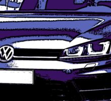 Awesome VOLKSWAGEN R GTI GT GTD VAG VW JDM - Street Car sports hatchback art Graffiti Popart  warhol Sticker